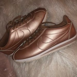 Rose Gold Nike Classic Cortez Sneakers